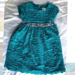 Sweet heart rose ruffled dress